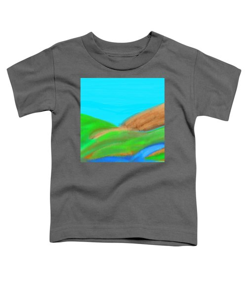 Blues And Browns On Greens Toddler T-Shirt