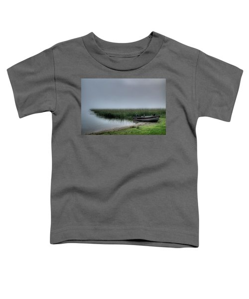 Boat In The Fog Toddler T-Shirt