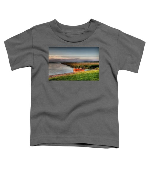 Boat On A Minnesota Lake Toddler T-Shirt