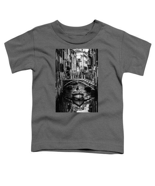 Boat On The River-bw Toddler T-Shirt