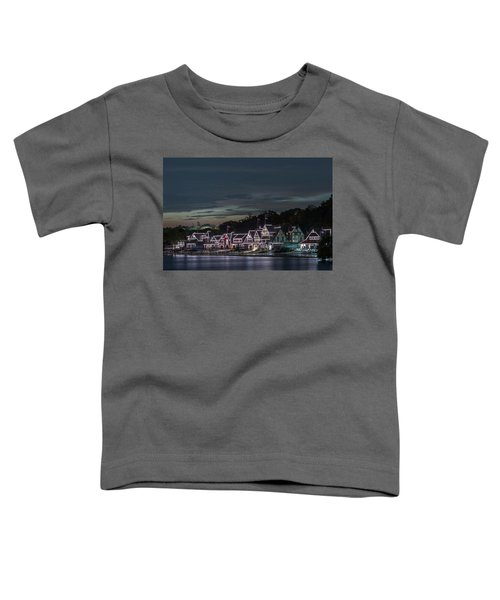Boathouse Row Philly Pa Night Toddler T-Shirt