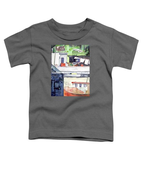 Boats On The Quay Toddler T-Shirt