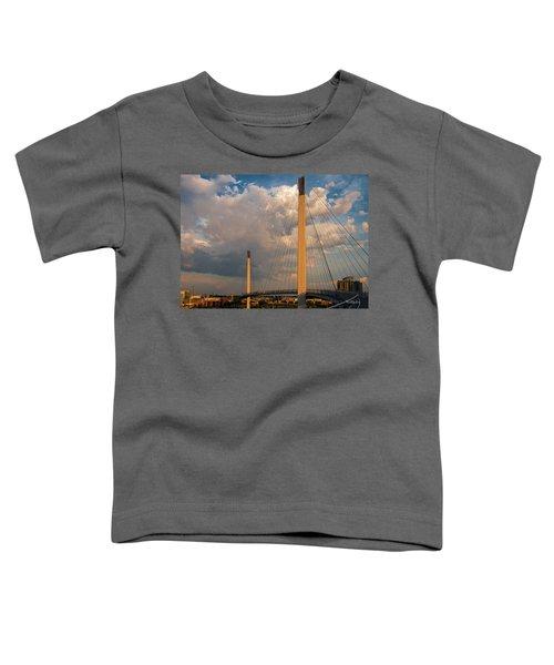 Bob Kerry Bridge At Sunrise-3 Toddler T-Shirt