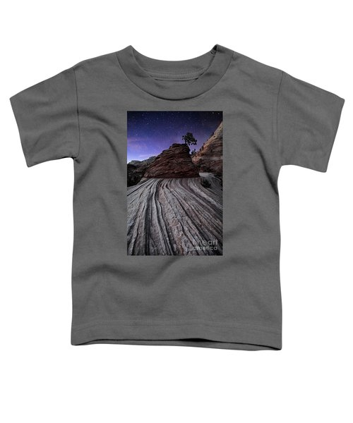 Bonzai In The Night Utah Adventure Landscape Photography By Kaylyn Franks Toddler T-Shirt