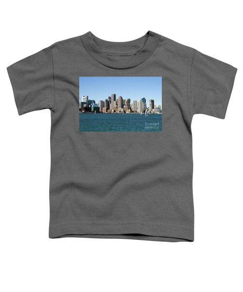 Boston City Skyline Toddler T-Shirt