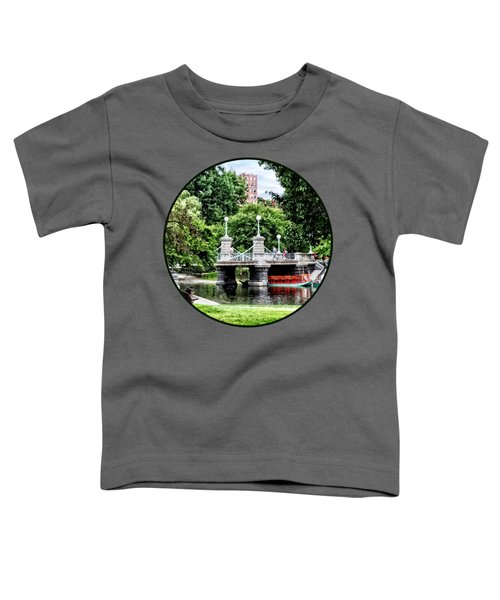 Boston Ma - Boston Public Garden Bridge Toddler T-Shirt