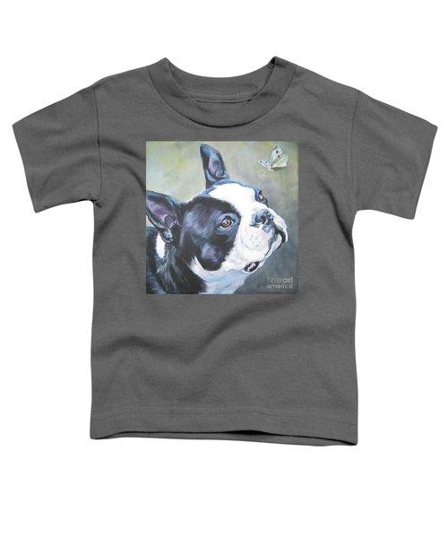 boston Terrier butterfly Toddler T-Shirt
