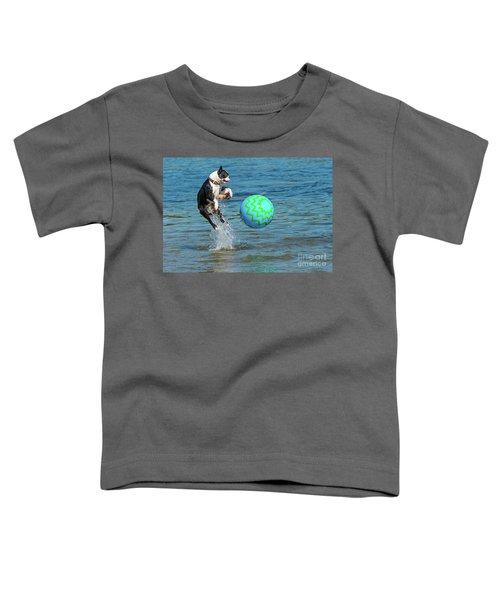 Boston Terrier High Jump Toddler T-Shirt