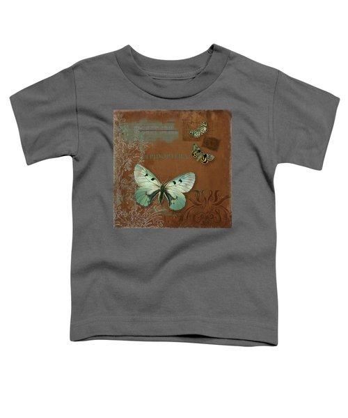Botanica Vintage Butterflies N Moths Collage 4 Toddler T-Shirt