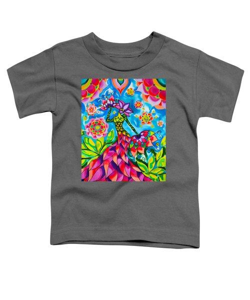 Bouganvilla Woman In The Garden Series Caye Caulker Belize Toddler T-Shirt