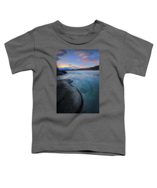 Boulders And Ice On The Athabasca River Toddler T-Shirt