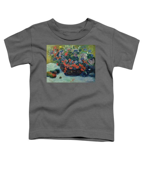Bouquet Of Flowers Toddler T-Shirt by Paul Gauguin