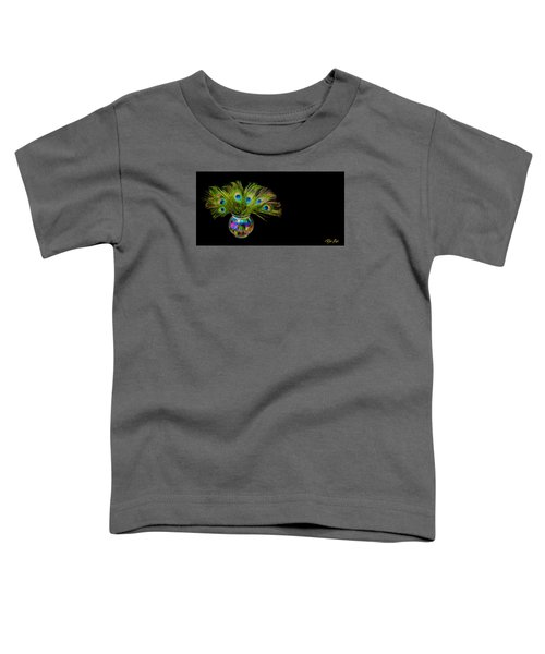 Toddler T-Shirt featuring the photograph Bouquet Of Peacock by Rikk Flohr