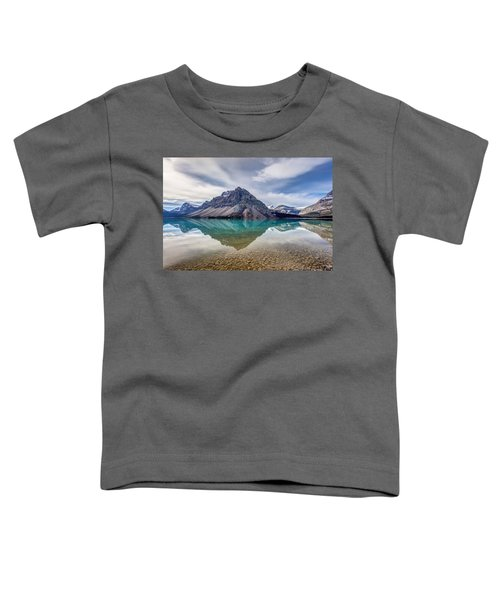 Bow Lake Reflection From Num-ti-jah Lodge  Toddler T-Shirt
