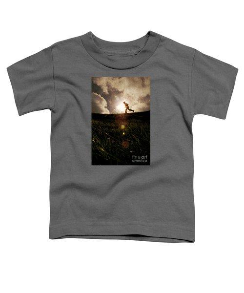 Boy Running Toddler T-Shirt