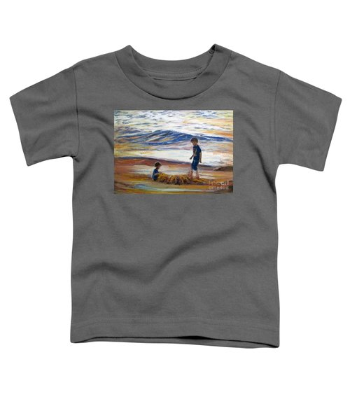 Boys Playing At The Beach Toddler T-Shirt