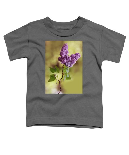 Toddler T-Shirt featuring the photograph Branch Of Fresh Violet Lilac by Jaroslaw Blaminsky