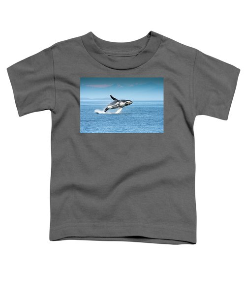 Breaching Humpback Whales Happy-4 Toddler T-Shirt