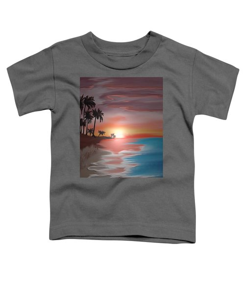 Toddler T-Shirt featuring the digital art Breakers by Gerry Morgan