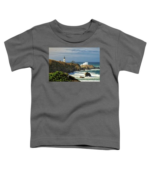 Breaking Waves At Yaquina Head Lighthouse Toddler T-Shirt