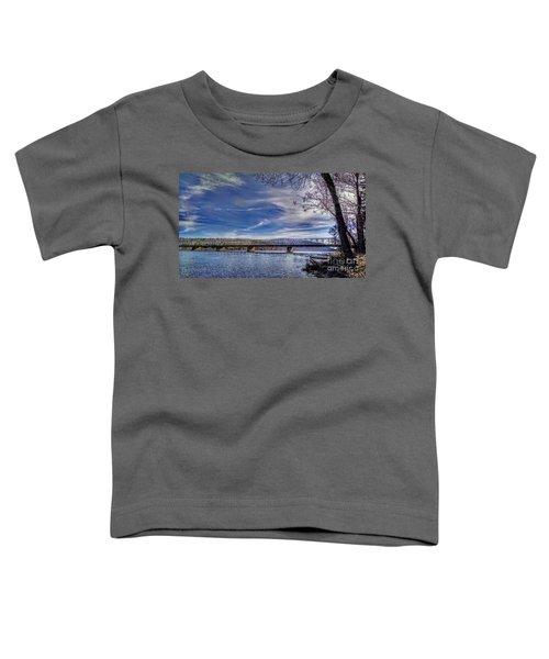 Bridge Over The Delaware River In Winter Toddler T-Shirt
