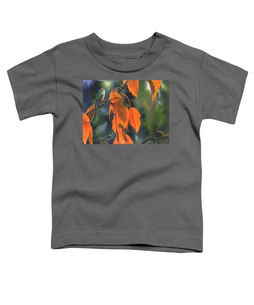 Bright Orange Leaves Toddler T-Shirt