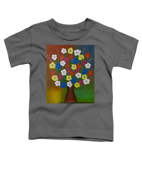 Brilliant Bouquet Toddler T-Shirt by Teresa Wing