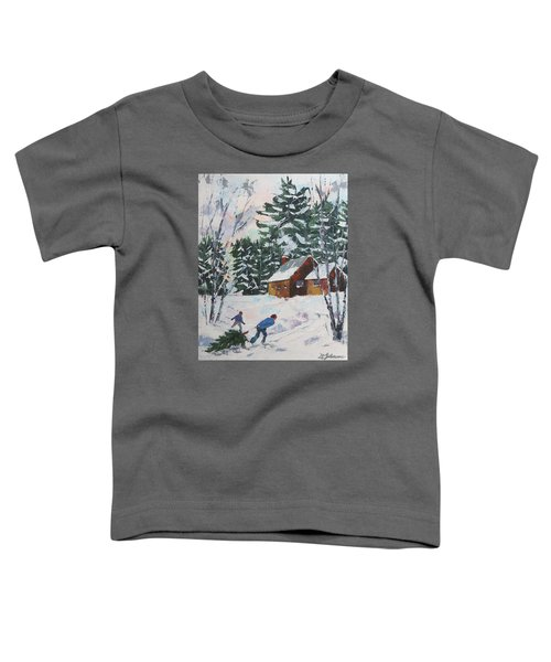 Bringing In The Tree Toddler T-Shirt