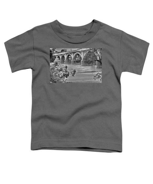 Gervais Street Bridge Black And White Toddler T-Shirt