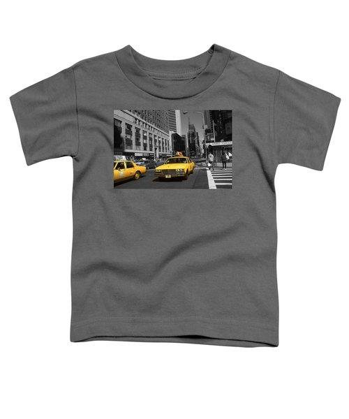 New York Yellow Taxi Cabs - Highlight Photo Toddler T-Shirt