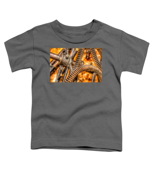 Bromo Seltzer Tower's 1911 Seth Thomas Clock Mechanism Abstract #6 Toddler T-Shirt