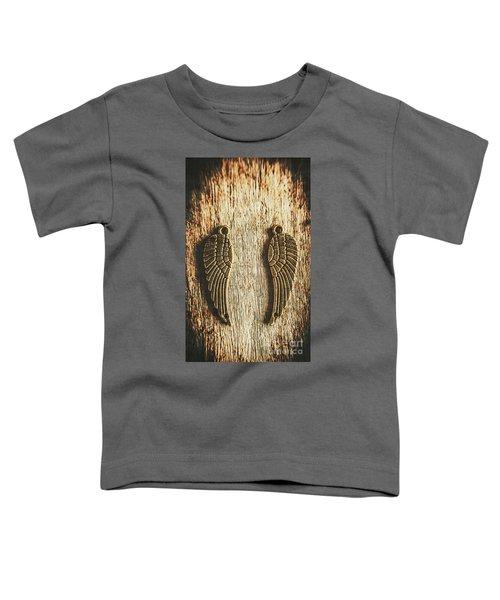 Bronze Angel Wings Toddler T-Shirt