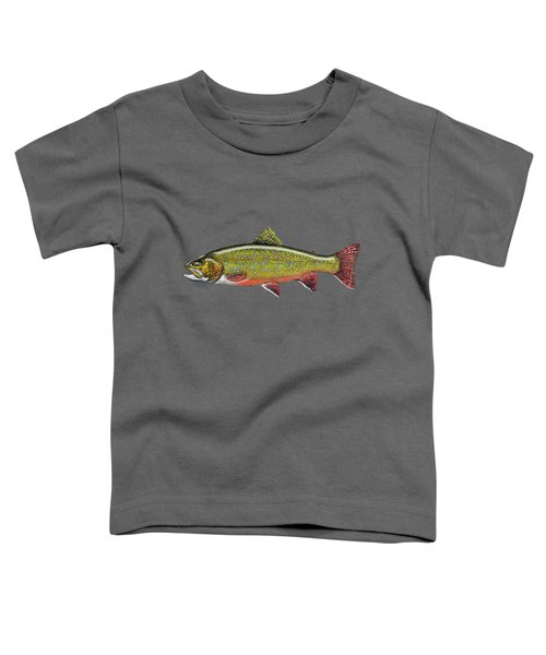 Brook Trout Toddler T-Shirt by Serge Averbukh