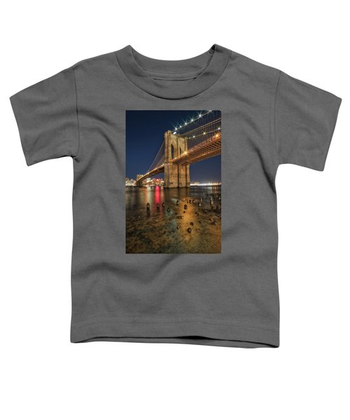 Brooklyn Bridge At Night Toddler T-Shirt