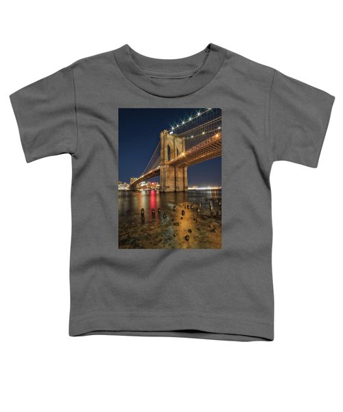 Brooklyn Bridge At Night Toddler T-Shirt