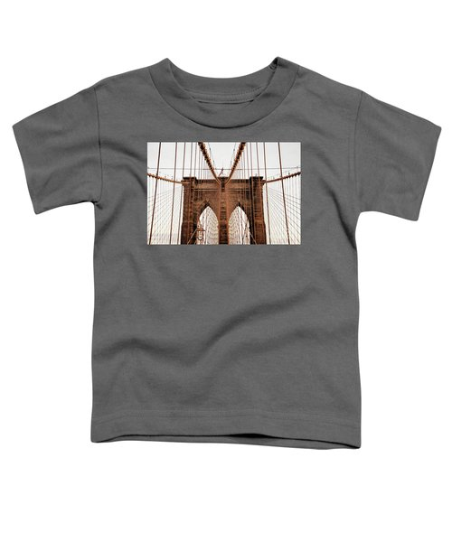 Toddler T-Shirt featuring the photograph Brooklyn Bridge by MGL Meiklejohn Graphics Licensing