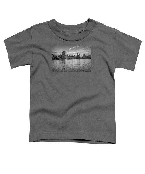 Brooklyn Bridge Monochrome Toddler T-Shirt