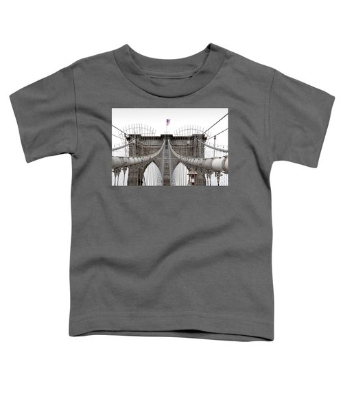 Toddler T-Shirt featuring the photograph Brooklyn Bridge Top by Peter Simmons