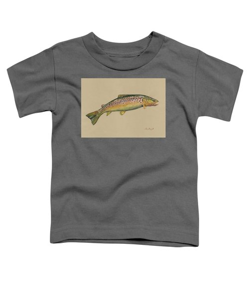 Brown Trout Jumping Toddler T-Shirt
