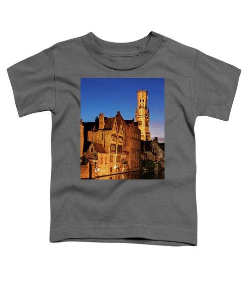 Bruges Belfry At Night Toddler T-Shirt