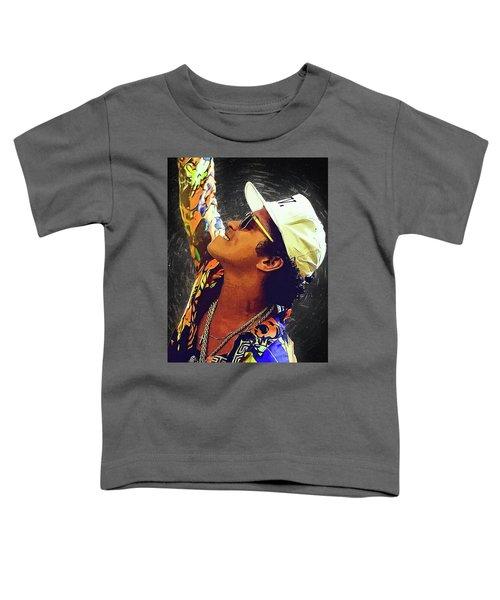 Bruno Mars Toddler T-Shirt by Semih Yurdabak