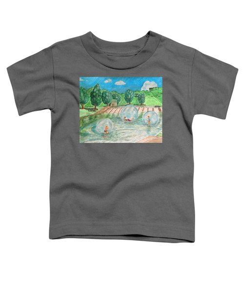 Bubble Ball In Olympiapark Toddler T-Shirt
