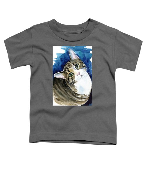 Bubbles - Tabby Cat Painting Toddler T-Shirt