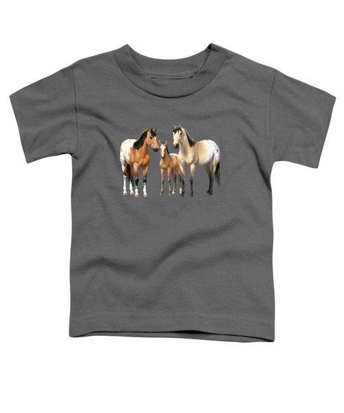 Buckskin Appaloosa Horses In Winter Pasture Toddler T-Shirt
