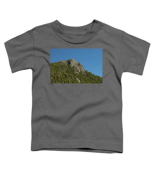 Toddler T-Shirt featuring the photograph Buffalo Rock With Waxing Crescent Moon by James BO Insogna
