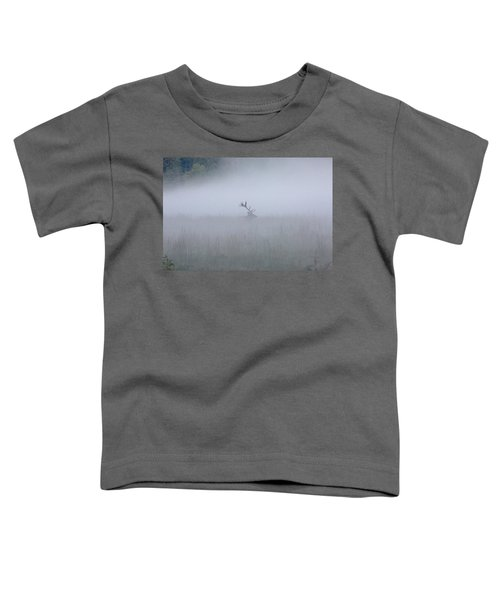 Bull Elk In Fog - September 30, 2016 Toddler T-Shirt