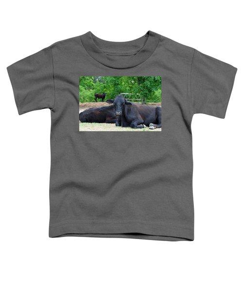 Bull Relaxing Toddler T-Shirt