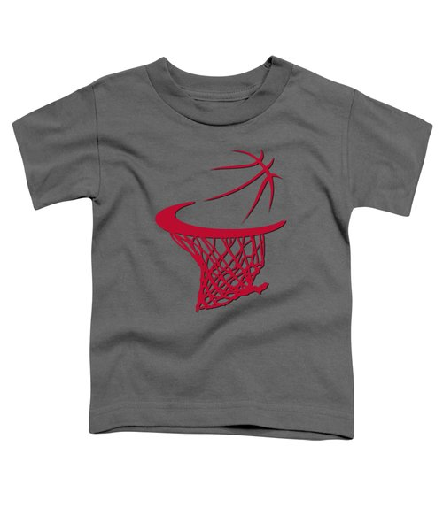 Bulls Basketball Hoop Toddler T-Shirt by Joe Hamilton