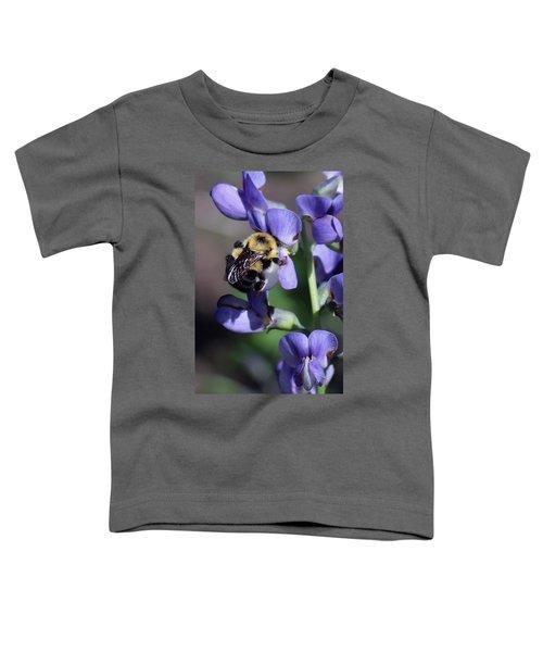 Bumble Bee, Blue Indigo Toddler T-Shirt