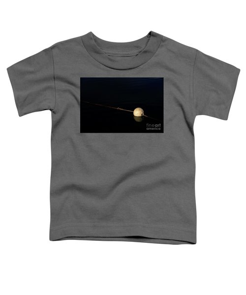 Toddler T-Shirt featuring the photograph Buoy At Night by Stephen Mitchell